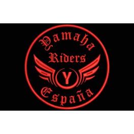 Parche Bordado YAMAHA RIDERS (Bordado:ROJO / Fondo:NEGRO)
