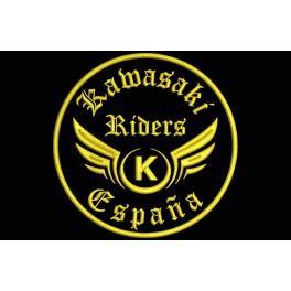 Parche Bordado KAWASAKI RIDERS (Bordado:ORO / Fondo:NEGRO)