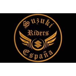Parche Bordado SUZUKI RIDERS (Bordado:BRONCE / Fondo:NEGRO)
