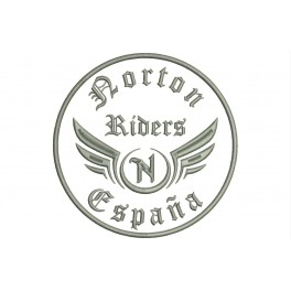 Parche Bordado NORTON RIDERS (Bordado:METAL / Fondo:BLANCO)