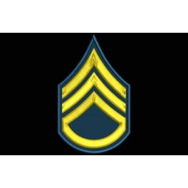 Parche Bordado RANGO SARGENTO 2 CLASE (US ARMY)