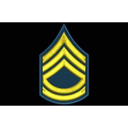 Parche Bordado RANGO SARGENTO 1 CLASE (US ARMY)