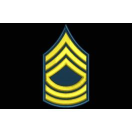 Parche Bordado RANGO SARGENTO MAESTRO (US ARMY)