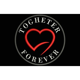 Parche Bordado TOGHETER FOREVER (Fondo:NEGRO)