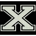 """Parche Bordado """"X"""" (LETRA X)"""