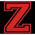 """Parche Bordado """"Z"""" (Color ROJO)"""